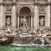 Trevi Fountain in Rome by Christian Del Rosario